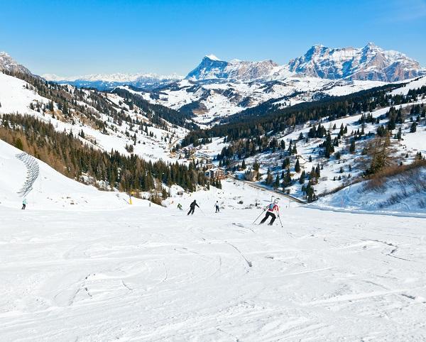 Die Dolomiten sind für den Winter und Ski Urlaub gut geeignet